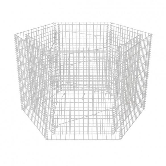 Strat in?l?at gabion hexagonal, 160 x 140 x 100 cm