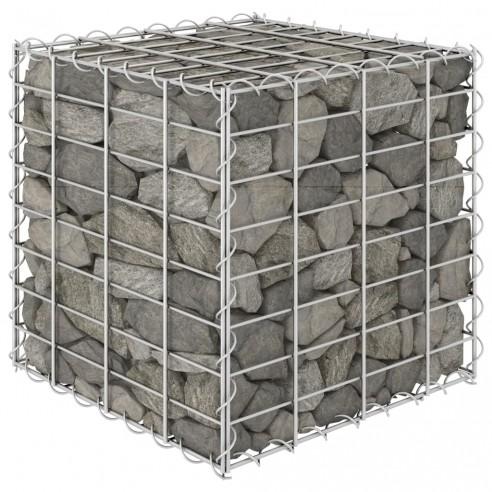 Strat in?l?at cub gabion, 40 x 40 x 40 cm, sârm? de o?el
