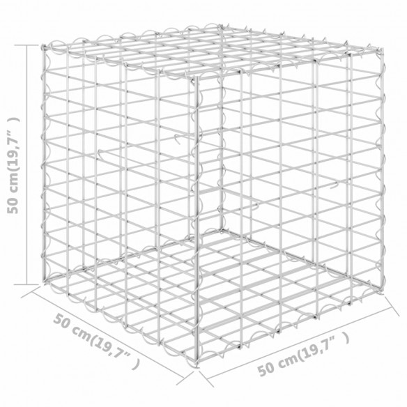 Strat in?l?at cub gabion, 50 x 50 x 50 cm, sârm? de o?el