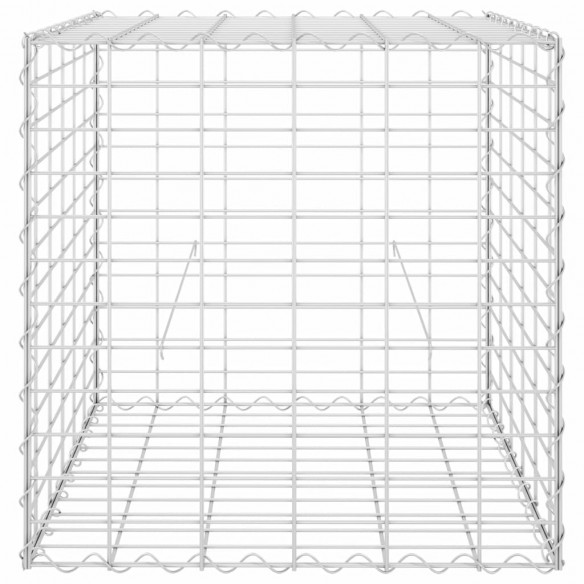 Strat in?l?at cub gabion, 60 x 60 x 60 cm, sârm? de o?el