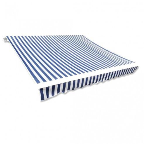 Pânz? copertin? albastru & alb 3x2,5 m (cadrul nu este inclus)