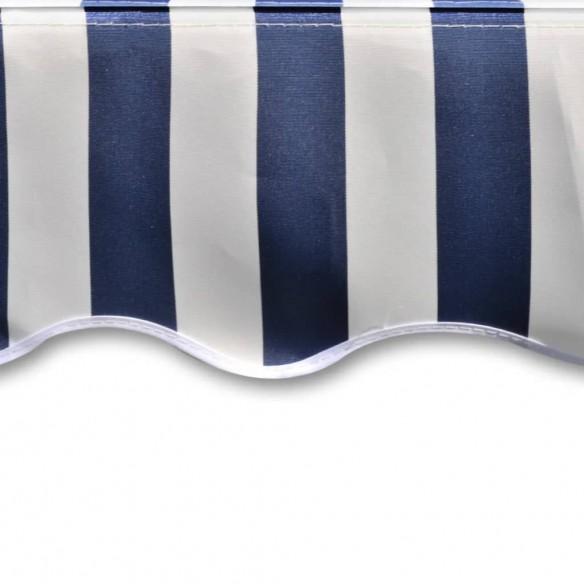 Pânz? copertin? albastru & alb 4 x 3 m (cadrul nu este inclus)