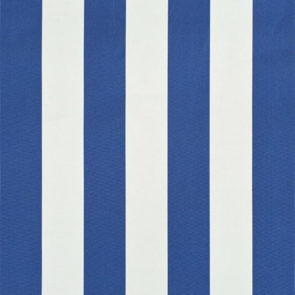Copertin? de bistro, albastru ?i alb, 250 x 120 cm