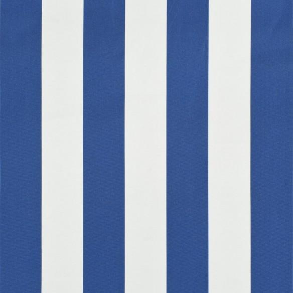 Copertin? retractabil?, albastru ?i alb, 250 x 150 cm