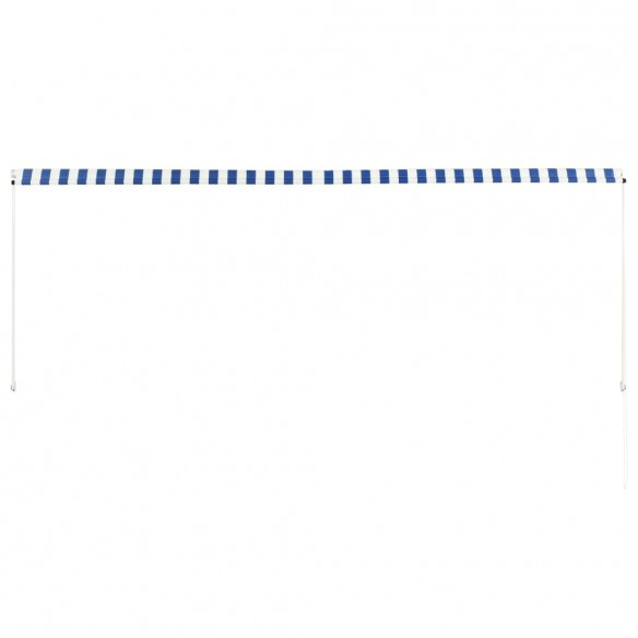 Copertin? retractabil?, albastru ?i alb, 350 x 150 cm
