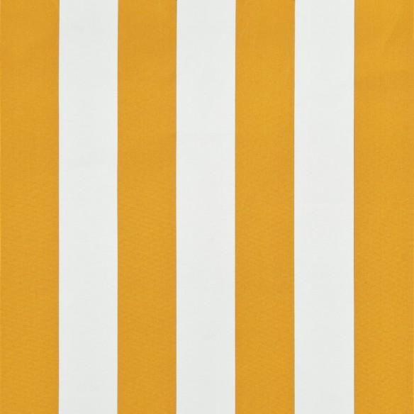 Copertin? retractabil?, galben ?i alb, 250 x 150 cm
