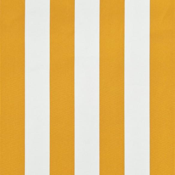 Copertin? retractabil?, galben ?i alb, 300 x 150 cm