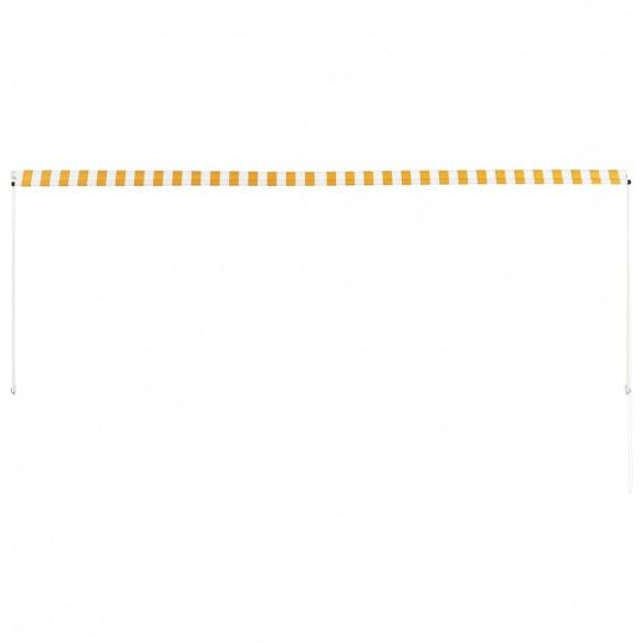 Copertin? retractabil?, galben ?i alb, 350 x 150 cm