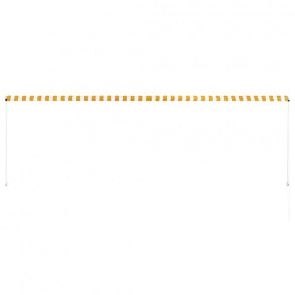 Copertin? retractabil?, galben ?i alb, 400 x 150 cm