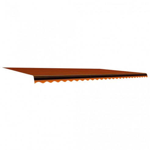 Pânz? de copertin?, portocaliu ?i maro, 600 x 300 cm