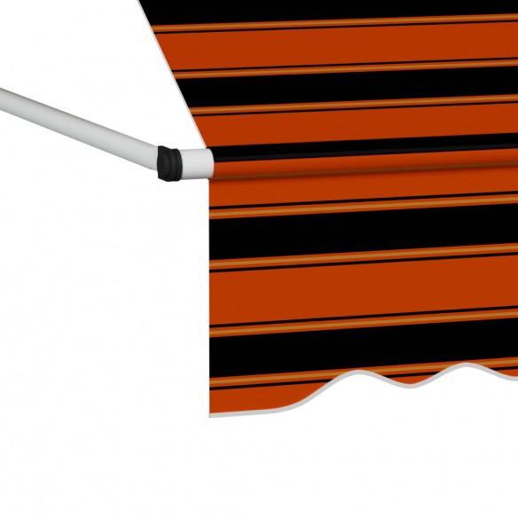 Copertin? retractabil? manual, portocaliu ?i maro, 300 cm