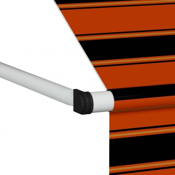 Copertin? retractabil? manual, portocaliu ?i maro, 400 cm