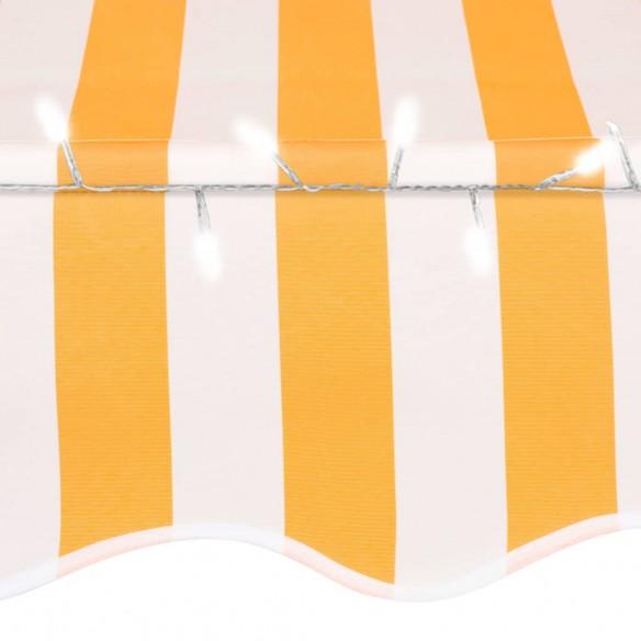 Copertin? retractabil? manual cu LED, alb & portocaliu, 100 cm