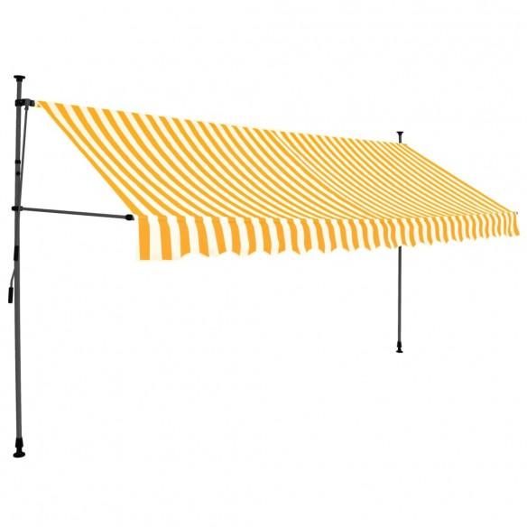 Copertin? retractabil? manual cu LED, alb & portocaliu, 400 cm