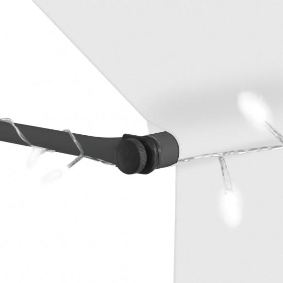 Copertin? retractabil? manual cu LED, crem, 150 cm
