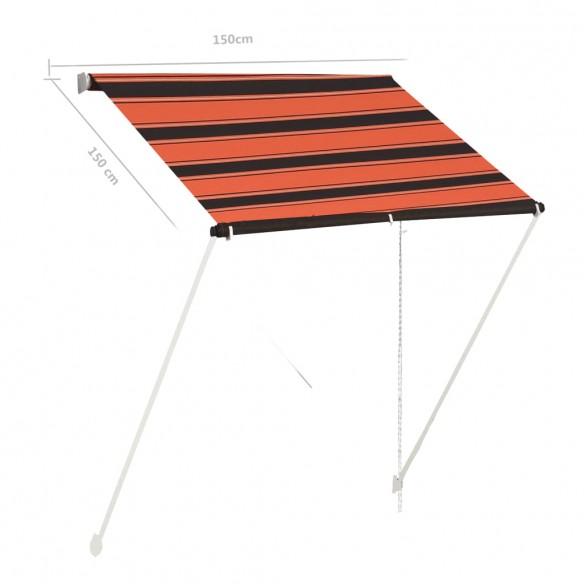 Copertin? retractabil?, portocaliu ?i maro, 150 x 150 cm
