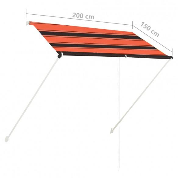 Copertin? retractabil?, portocaliu ?i maro, 200 x 150 cm