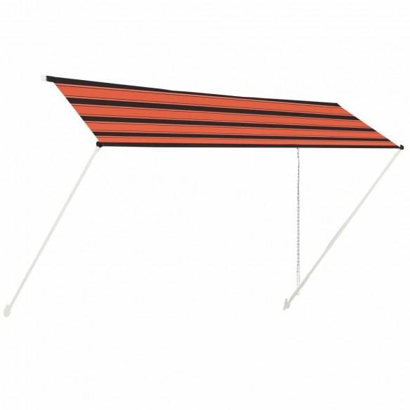 Copertin? retractabil?, portocaliu ?i maro, 400 x 150 cm