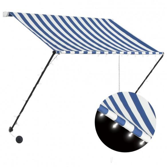 Copertin? retractabil? cu LED, albastru ?i alb, 100 x 150 cm