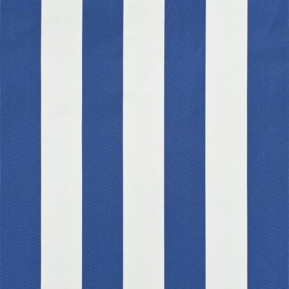Copertin? retractabil? cu LED, albastru ?i alb, 250 x 150 cm