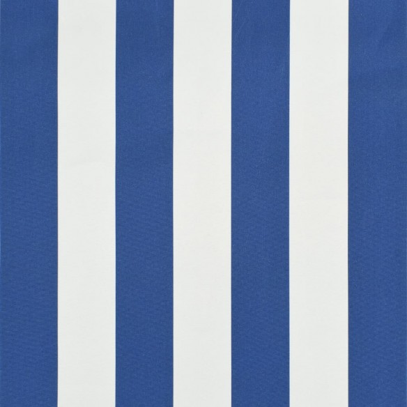 Copertin? retractabil? cu LED, albastru ?i alb, 400 x 150 cm