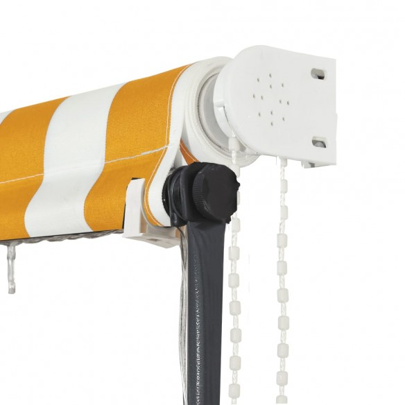 Copertin? retractabil? cu LED, galben ?i alb, 250 x 150 cm