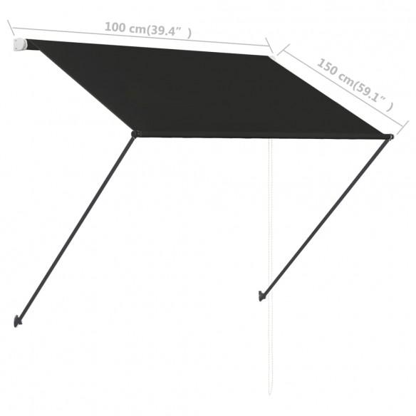 Copertin? retractabil? cu LED, antracit, 100 x 150 cm