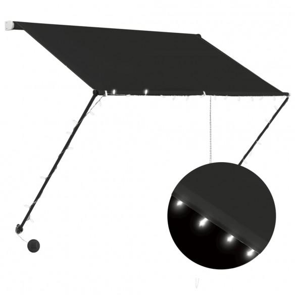 Copertin? retractabil? cu LED, antracit, 150 x 150 cm
