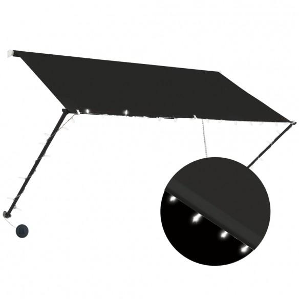 Copertin? retractabil? cu LED, antracit, 250 x 150 cm