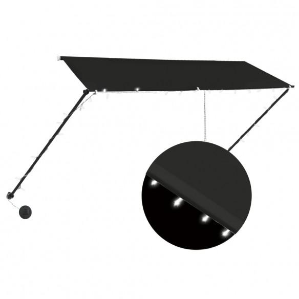 Copertin? retractabil? cu LED, antracit, 300 x 150 cm