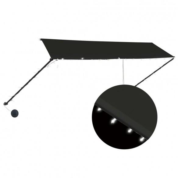 Copertin? retractabil? cu LED, antracit, 350 x 150 cm