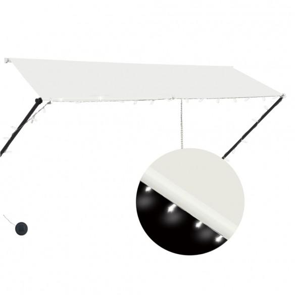 Copertin? retractabil? cu LED, crem, 300 x 150 cm