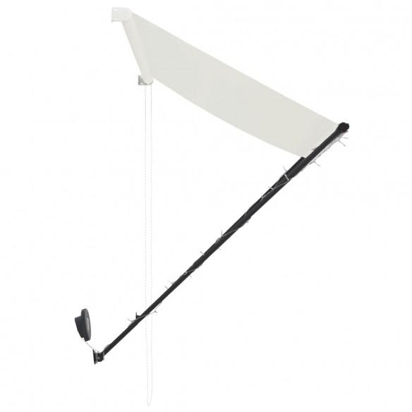 Copertin? retractabil? cu LED, crem, 400 x 150 cm