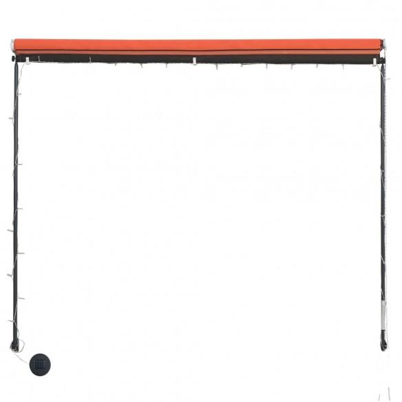 Copertin? retractabil? cu LED, portocaliu ?i maro, 250 x 150 cm
