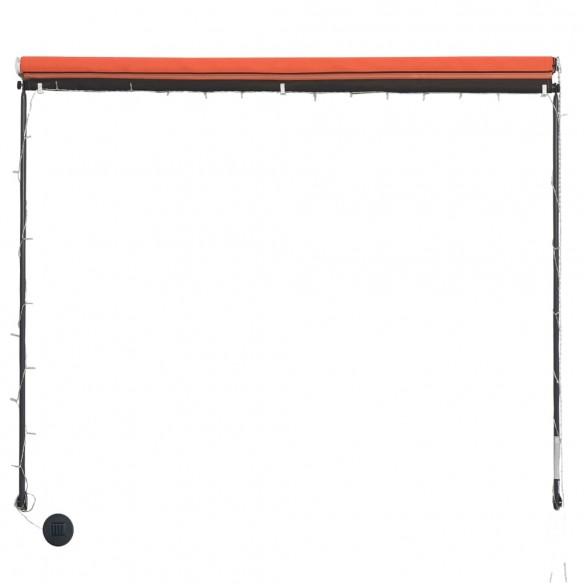 Copertin? retractabil? cu LED, portocaliu ?i maro, 300 x 150 cm