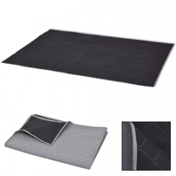 P?tur? pentru picnic, gri ?i negru, 100 x 150 cm