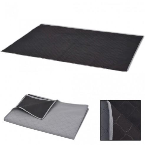 P?tur? de picnic cu gri ?i negru 150 x 200 cm