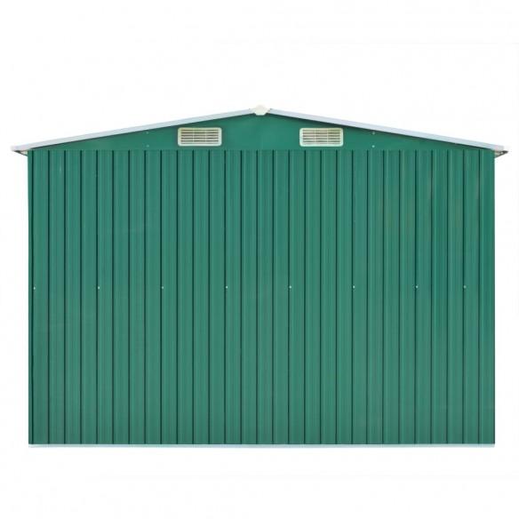 ?opron de gr?din?, 257 x 597 x 178 cm, metal, verde