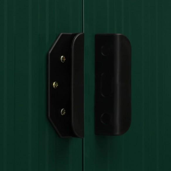 ?opron gr?din?, acoperi? extins, verde, 346x121x181 cm, o?el