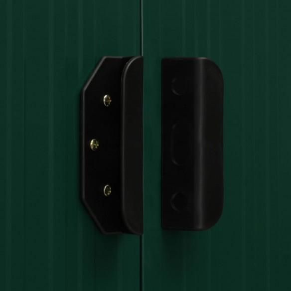 ?opron gr?din?, acoperi? extins, verde, 336x270x181 cm, o?el