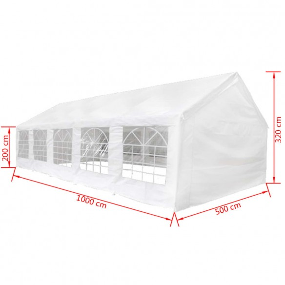 160133  Party Tent 10 x 5 m. White