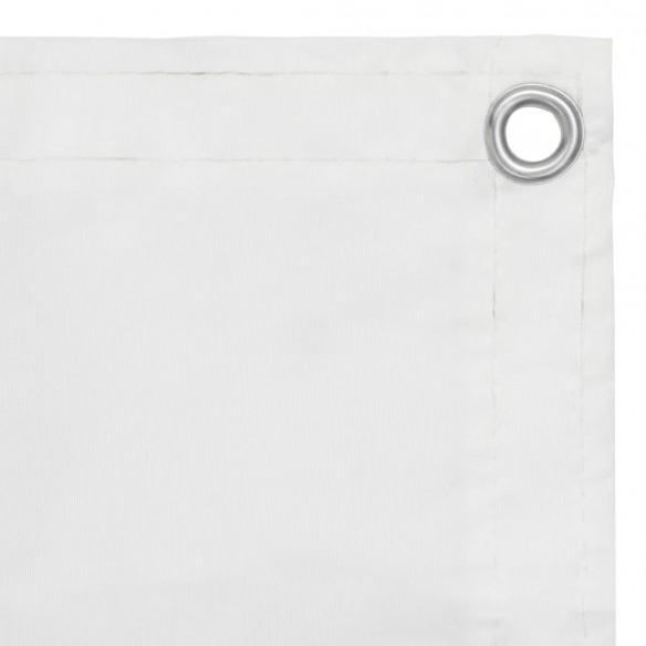 Paravan de balcon, alb, 75 x 300 cm, ?es?tur? oxford