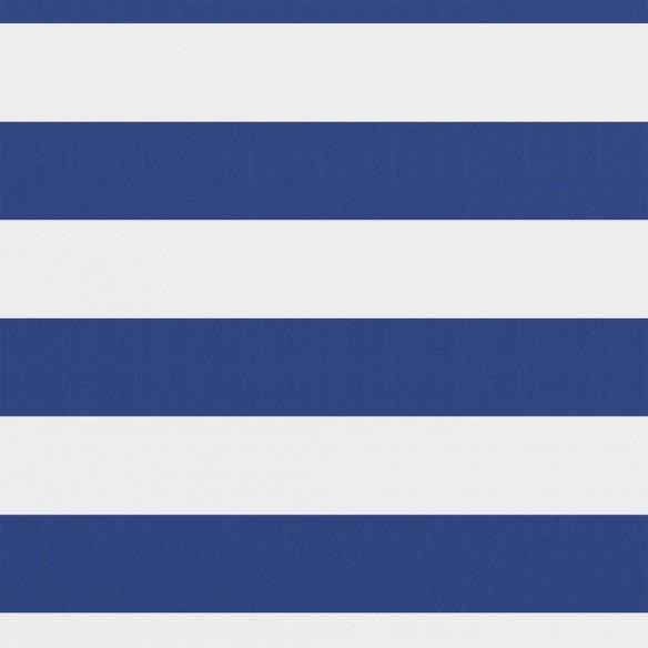 Paravan de balcon, alb ?i albastru, 75 x 400 cm ?es?tur? oxford