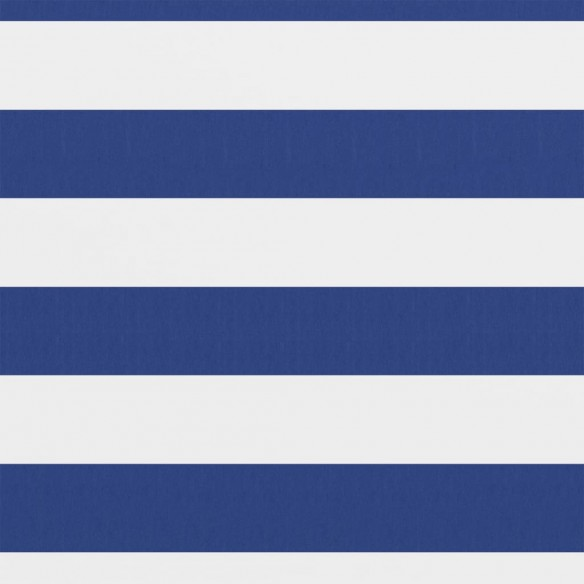 Paravan de balcon, alb ?i albastru, 120x300 cm, ?es?tur? oxford
