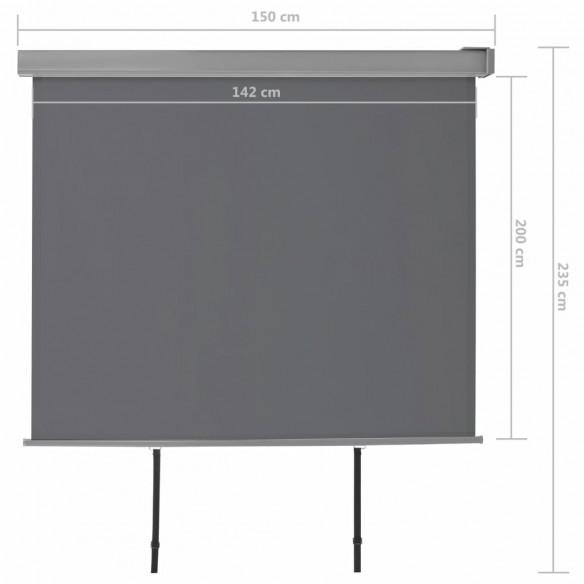 Copertin? lateral? multifunc?ional? balcon, gri, 150 x 200 cm