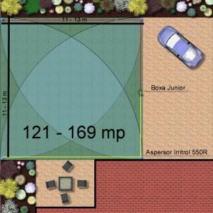 Kit irigare gazon 121-169 m2 Irritrol cu programator interior