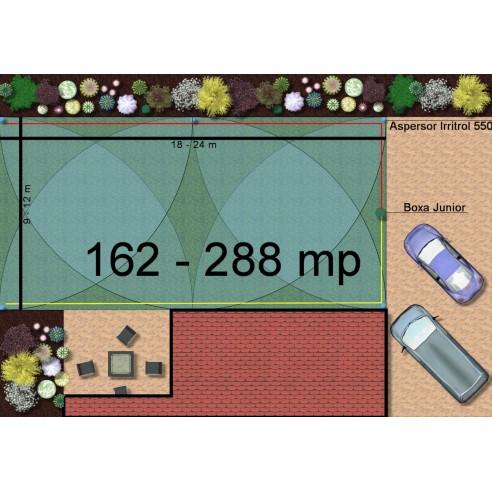 Kit irigare gazon 162-288 m2 Irritrol cu programator pe baterie 9V